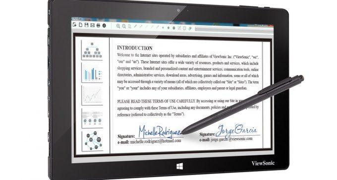 ViewSonic ra mắt dòng máy tính bảng kèm bút hỗ trợ giải pháp chữ ký điện tử