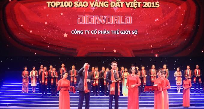 Digiworld vào top 100 giải thưởng Sao Vàng Đất Việt 2015