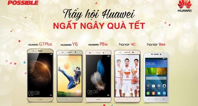 Smartphone Huawei có mặt tại hệ thống cửa hàng Thế giới Di động