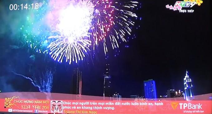 VIDEO: Pháo hoa Giao thừa Tết Bính Thân 2016 tại Saigon