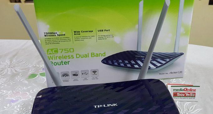 TP-LINK ARCHER C20: Chiếc Wi-Fi router chuẩn AC phổ dụng cho các gia đình