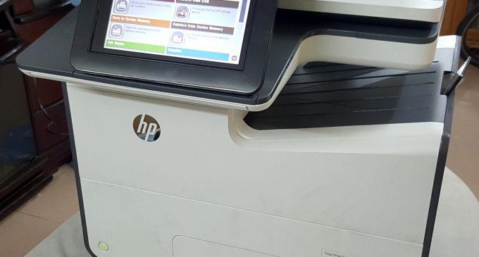 """HP MFP 586: máy in văn phòng đa chức năng """"ngon, bổ, tiết kiệm"""""""