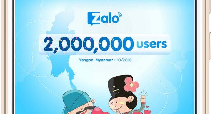 Ứng dụng di động Zalo đạt mốc 2 triệu người dùng ở Myanmar