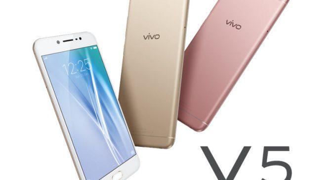 Smartphone Vivo V5 với camera selfie 20MP sắp có mặt tại Việt Nam