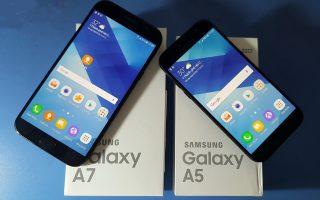 Smartphone Samsung Galaxy A7 (2017) và A5 (2017)