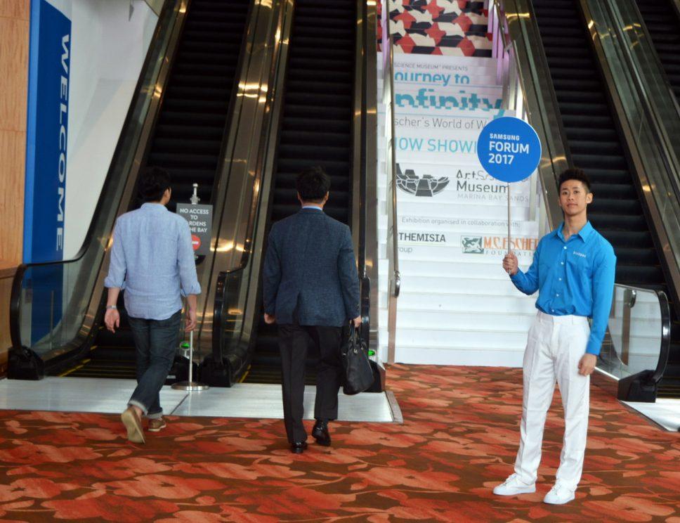 Một vòng triển lãm hàng điện tử gia dụng Samsung SEAO Forum 2017 Singapore