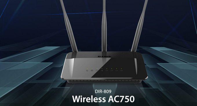 Kết nối Internet tốc độ cao với D-Link DIR-809, AC750 Wireless Dual Band Router
