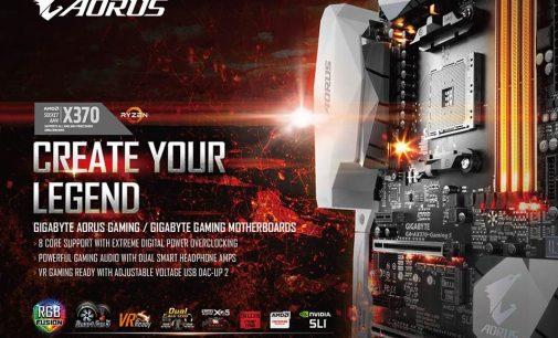 Gigabyte công bố loạt bo mạch chủ AORUS mới hỗ trợ nền tảng AMD Ryzen với socket AM4