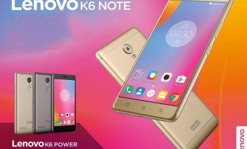 Bộ đôi smartphone Lenovo K6 Note và K6 Power ra mắt tại Việt Nam