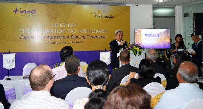 Công ty bảo hiểm Sun Life ký kết hợp tác kinh doanh với Dịch vụ Ngân hàng số Timo