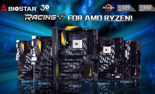 Biostar công bố dòng motherboard AMD B350 Racing Series cho game thủ