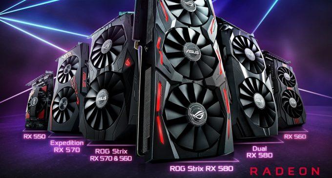 Asus công bố dòng card đồ họa Radeon RX 500 mới
