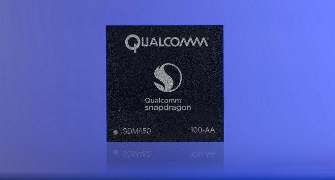 Nền tảng di động Qualcomm Snapdragon 450 tăng cường hỗ trợ camera kép và kết nối LTE tốc độ cao