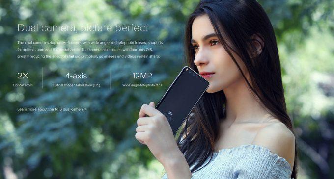 Smartphone Xiaomi Mi 6 chính thức có trên thị trường Việt Nam