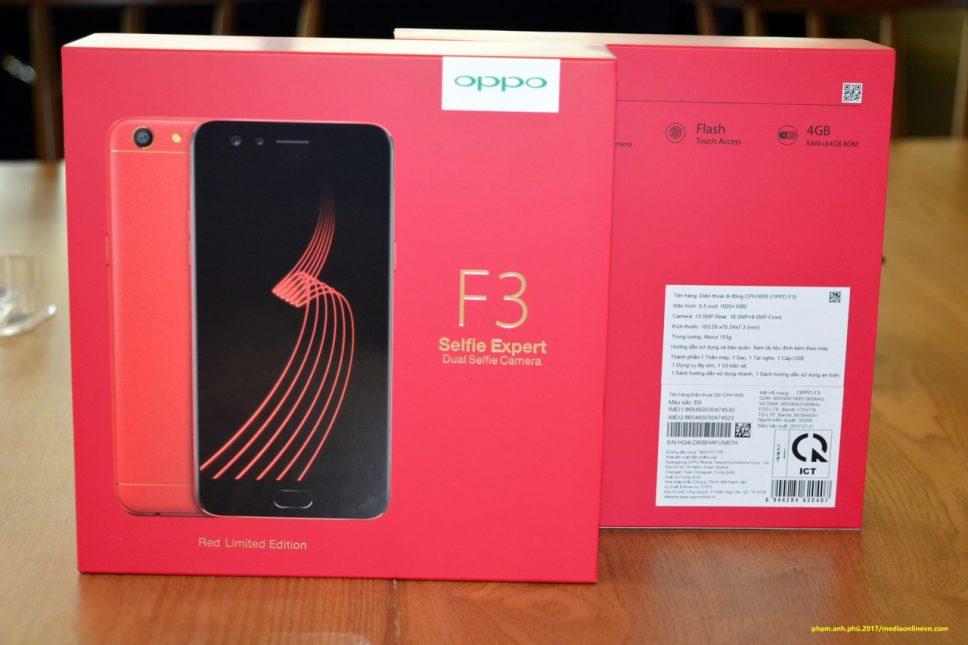 """ALBUM: Tiếp tay """"đập hộp"""" smartphone OPPO F3 phiên bản hạn chế màu đỏ"""