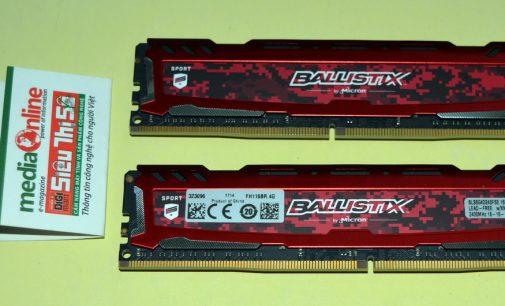 Bộ nhớ Crucial Ballistix Sport DDR4-2400 dung lượng 8GB