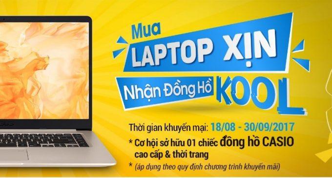 Asus Việt Nam khuyến mãi laptop chào mùa tựu trường 2017