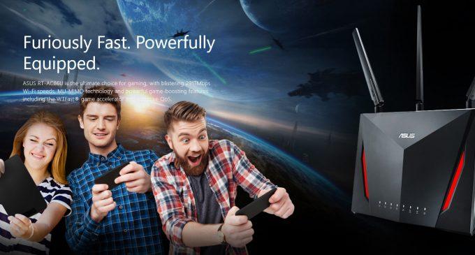 Wi-Fi router Asus RT-AC86U tốc độ 2.900Mbps
