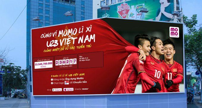 Lì xì cho U23 Việt Nam qua ví điện tử Momo