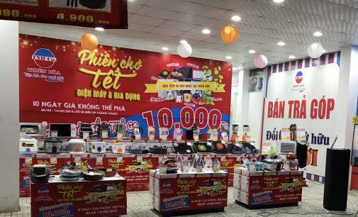Mua sắm trong phiên chợ Tết tại Điện máy Thiên Hòa