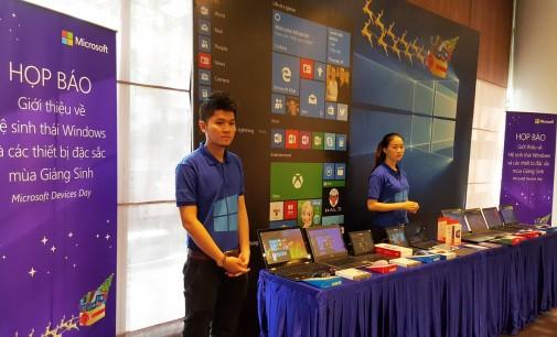 Microsoft Việt Nam giới thiệu những thiết bị Windows 10 cho mùa Giáng sinh 2015