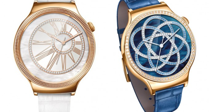Hai phiên bản smartwatch Huawei Watch Jewel và Elegant trang trí đá Swarovski