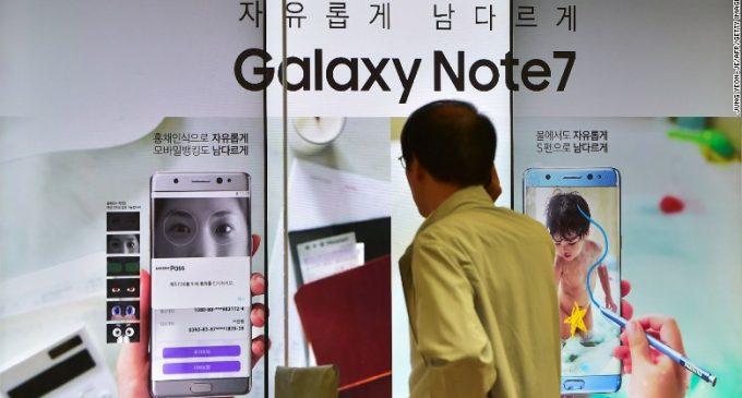 Samsung thu hồi toàn bộ Galaxy Note7 bán ra trên toàn cầu vì lỗi pin