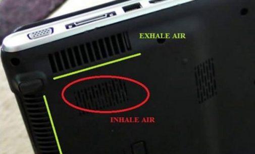 Làm sạch phần giải nhiệt của laptop