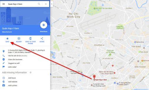 Lưu lại và chia sẻ danh sách địa điểm yêu thích trên Google Maps