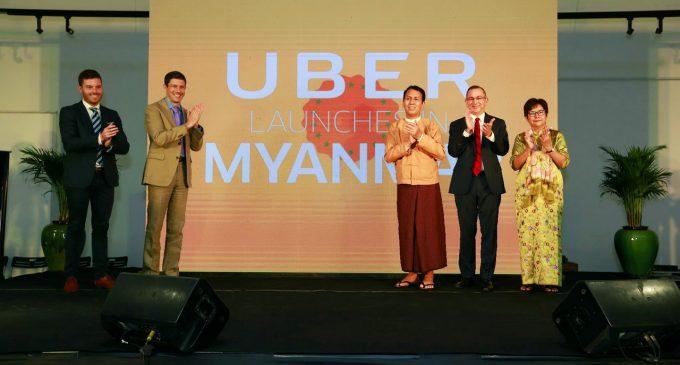 Uber chính thức hoạt động ở Myanmar