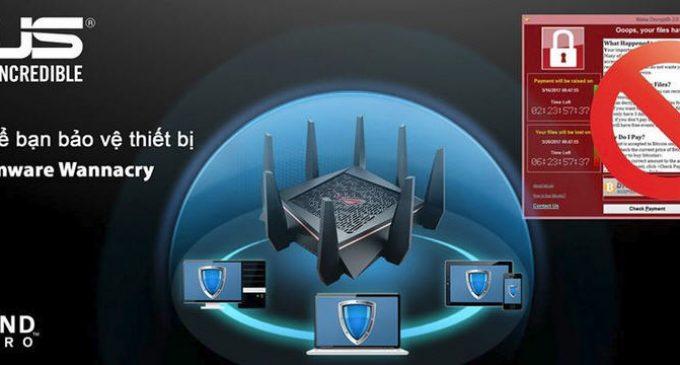 Asus cập nhật tính năng chặn mã độc tống tiền WannaCry cho router
