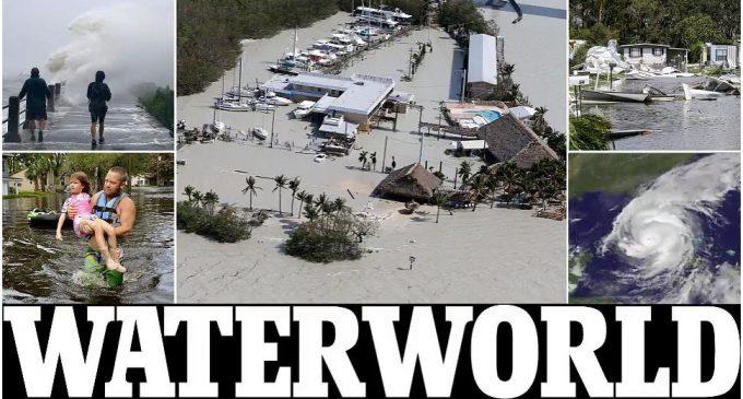 Florida bị mụ phù thủy Irma hô biến từ Sunshine State thành Waterworld