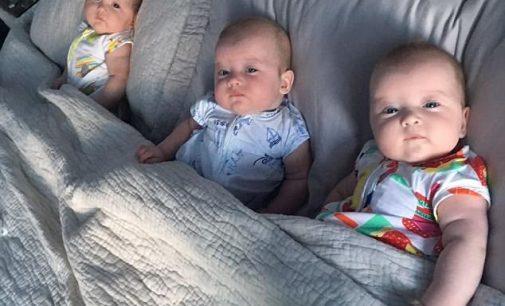 Ba chị em sinh ba 6 tháng tuổi thoát nạn từ siêu bão Irma