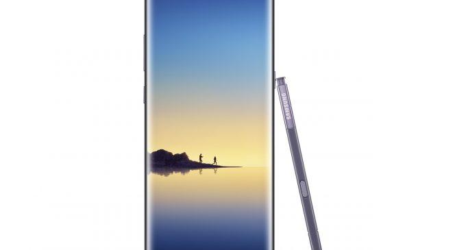 Samsung Galaxy Note8 màu Tím khói được bán tại Việt Nam