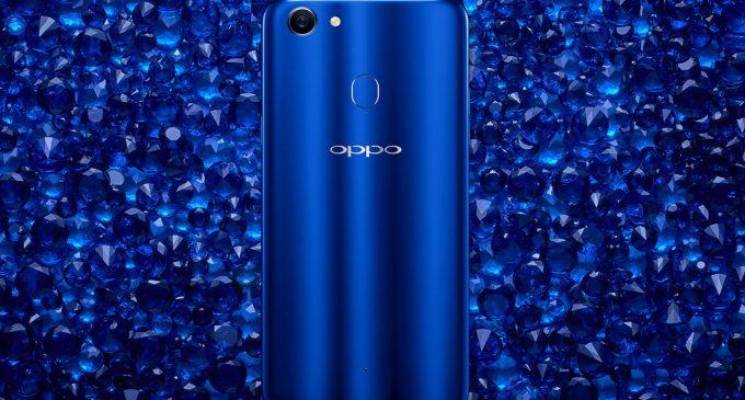 OPPO F5 xanh thạch anh được bán độc quyền tại hệ thống Thế Giới Di Động