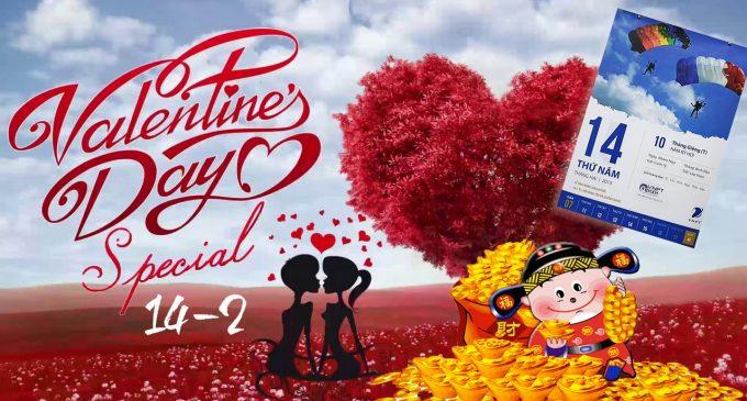 Thần Tài năm Kỷ Hợi mừng Valentine's Day 2019