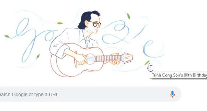 Google lần đầu tiên tôn vinh một nghệ sĩ Việt Nam với Doodles đặc biệt nhân sinh nhật Trịnh Công Sơn