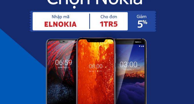 Chương trình siêu hội chính hãng của Nokia trên Shopee