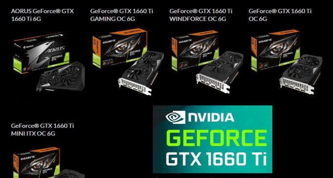GIGABYTE ra mắt loạt card đồ họa GeForce GTX 1660 Ti