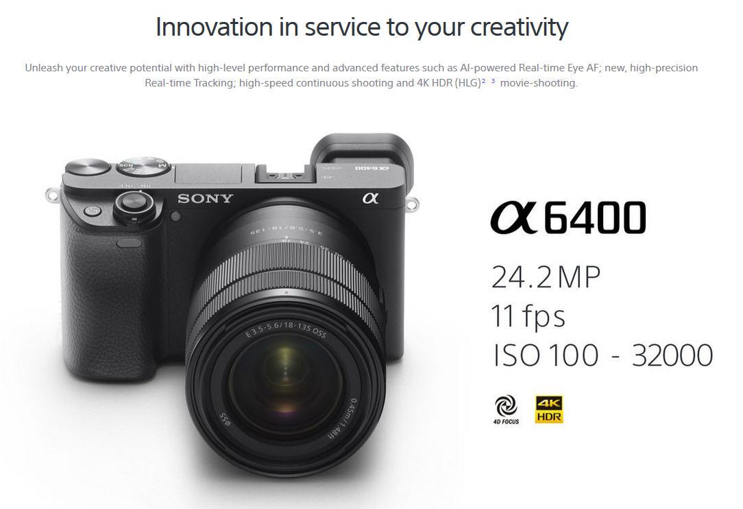 Sony Việt Nam ngày 15-3-2019 tại TP.HCM đã ra mắt thị trường Việt Nam dòng máy ảnh không gương lật (mirrorless) mới α6400 (ILCE-6400), mang các công nghệ ...