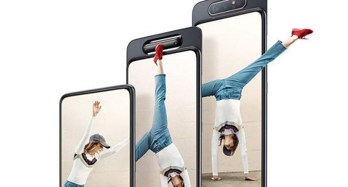 Samsung Galaxy A80 với cụm 3 camera trượt và xoay