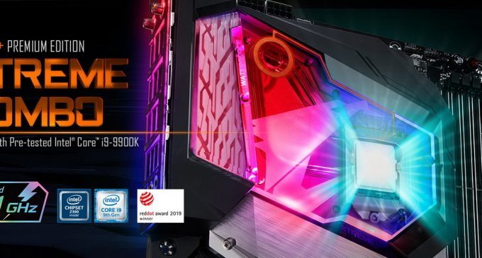 GIGABYTE ra mắt combo cao cấp motherboard Z390 AORUS XTREME WATERFORCE 5G gắn sẵn CPU Intel Core i9-9900K
