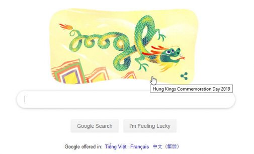 Giỗ Tổ Hùng Vương trên Google