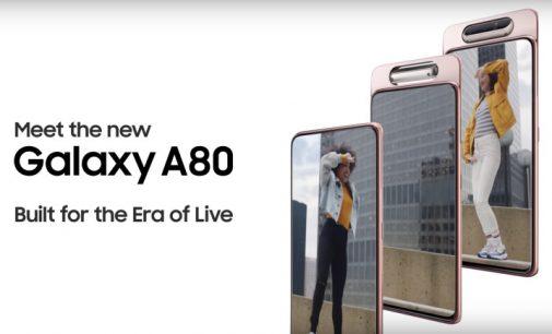 Samsung Galaxy A80, smartphone có camera trượt xoay ra mắt thị trường Việt Nam