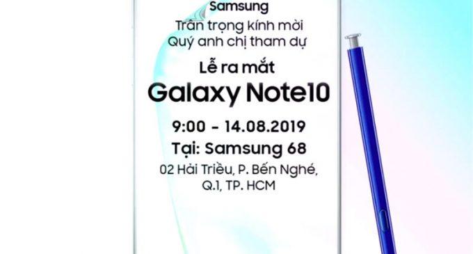 SAVED DATE: 18-4-2019, Samsung Galaxy Note10 và Note10+ chào thị trường Việt Nam