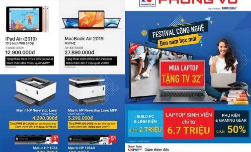"""Hệ thống cửa hàng Phong Vũ khuyến mại """"Festival công nghệ"""" chào đón năm học mới 2019"""