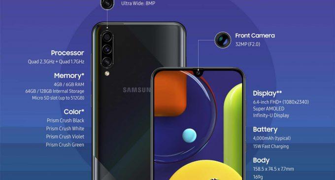 Infographic chính hãng về 3 smartphone Samsung Galaxy A20s, A30s và A50s