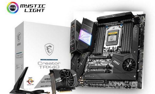 Dòng bo mạch chủ MSI AMD TRX40 hoàn toàn mới cho CPU AMD Ryzen Threadripper Gen 3