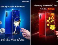 Samsung thêm màu mới cho mùa lễ hội cuối năm ở Việt Nam: Galaxy Note10+ Xanh Aura và Galaxy Note10 Đỏ Aura