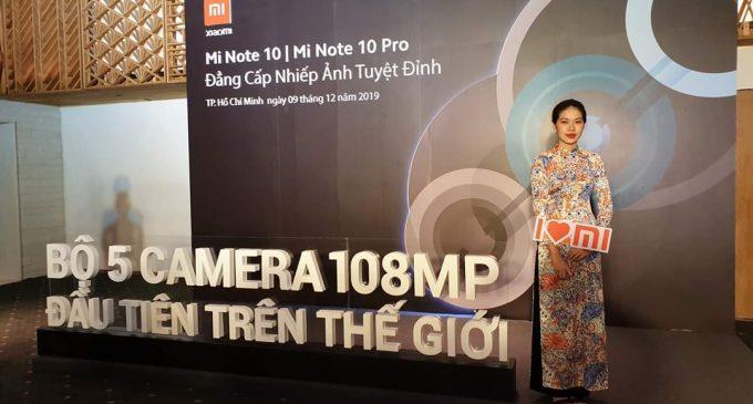 Dòng smartphone Xiaomi Mi Note 10 với camera 108MP có mặt ở Việt Nam